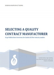 Selecting a Quality Contract Manufacturer