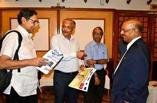 Dr. Majeed having discussions with Dr. VK Ramachandran, Vice-Chairman Kerala State Planning Board and Dr. Suresh Das Executive Vice President, Kerala state Council for Science, Technology and Environment and Chairman Kerala Biotechnology Commission