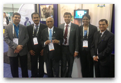 Engredea's - Functional Ingredients Editor's Choice Award for Curcumin C3 Reduct Left to Right - ' Dr. Anurag Pande, Mr. GN Gowda, Mr. Jayasankar Nair, Mr. Ahmed Khan, Ms. Asha Ramesh and Mr. Salman Habibullah from Sabinsa USA. 'Left to Right - ' Dr. Anurag Pande, Mr. GN Gowda, Mr. Jayasankar Nair, Mr. Ahmed Khan, Ms. Asha Ramesh and Mr. Salman Habibullah from Sabinsa USA.'